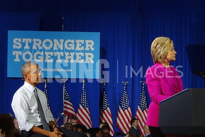 Barack Obama At Hillary Clinton Campaign Rally In Charlotte, NC