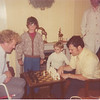 Ballbrigen, Ireland Paddy O'Sullivan, Michael Corrigan, Patrick Corrigan, Ed Corrigan, Barb Corrigan. Ed and Paddy playing chess.