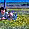 School girl Barbara Ison with Chrissy (niece) & Rod Ison (nephew) at Nangwee out of Dalby/Tmba