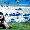Barbara Ison on the beach at Coolangatta 1966
