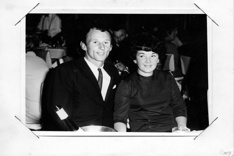 National Hotel drinks & meal with friends for our engagment in Brisbane 1968.