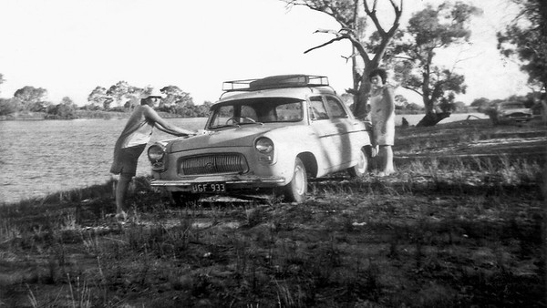 The Ford Anglia the three girls travelled & slept in. Short of money.