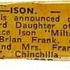 Engagement notice in newspaper 1968