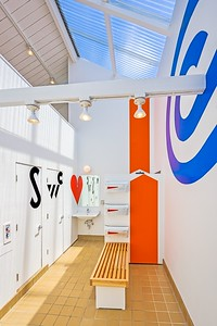 Barbara Stauffacher Solomon - Supergraphics at Moonraker Rec Center, Sea Ranch