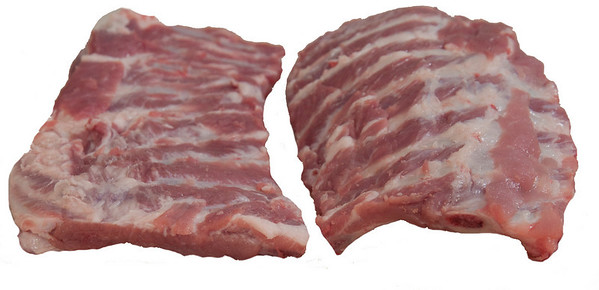 Left: SLC are flat Right: Baby Backs are curved. These are from the same side.