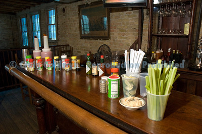 The do-it-yourself Bloody Mary bar is a big hit at the Sunday Gospel Brunch.