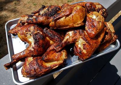 Finished half chicken