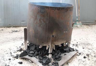 Charcoal burning area
