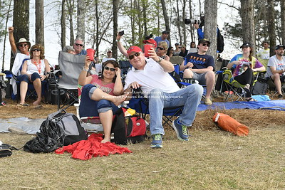 Fans on Pine Hill watching race