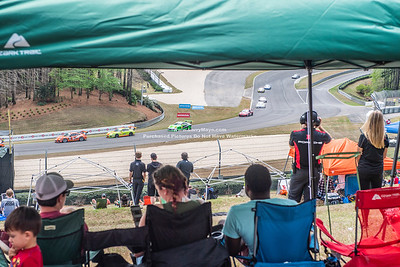 Fans watching the race Grass areas