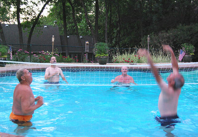 Jul 2008 Pool picnic with the Branscombs