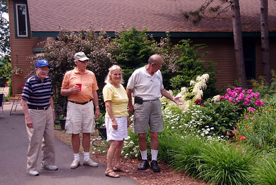 Our hostess for the afternoon, Cathy, showed us her flower gardens Jun 2013 GTC @ the Larsens in Little Falls