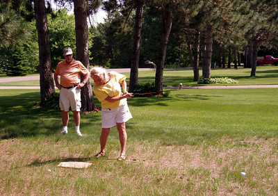 Everyone joined in the chipping contest, but YMIH was the real winner Jun 2013 GTC @ the Larsens in Little Falls