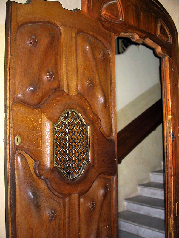 Door leading to narrow stairway