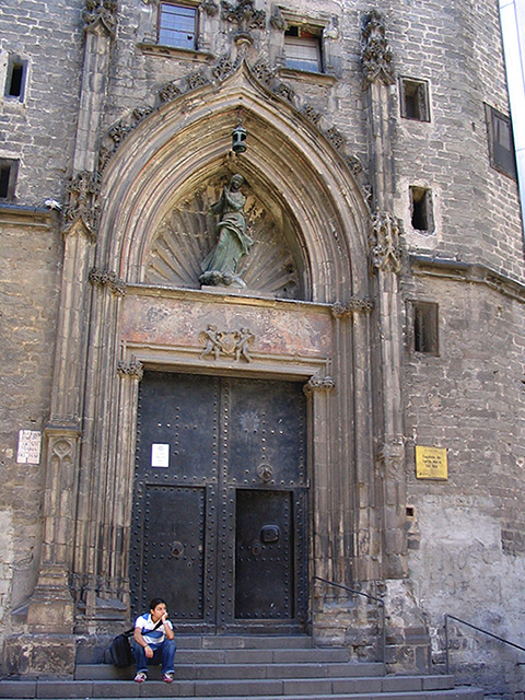 One of the main doors of the church