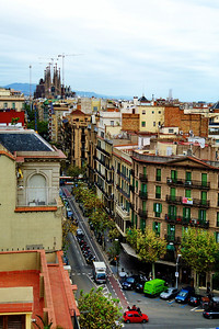 Sagrada Familia is visible from the roof.