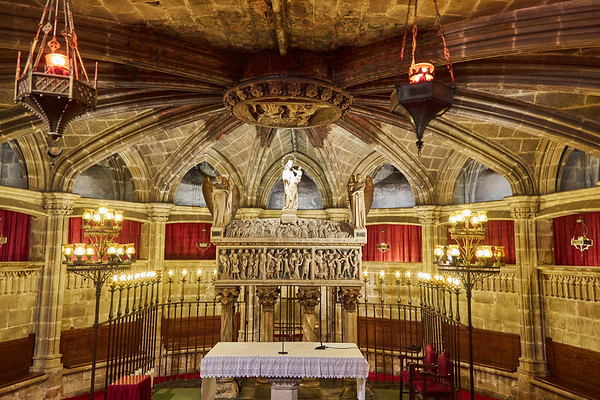 Crypt  in the Cathedral of Barcelona, consecrated in 1339