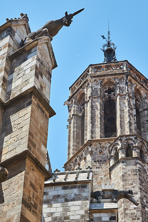 Gargoyles on the Cathedral of Barcelona
