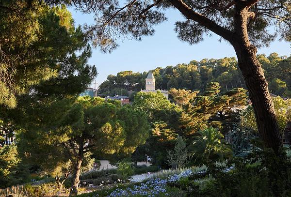 The gardens of Antoni Gaudi's Park Güell, Barcelona