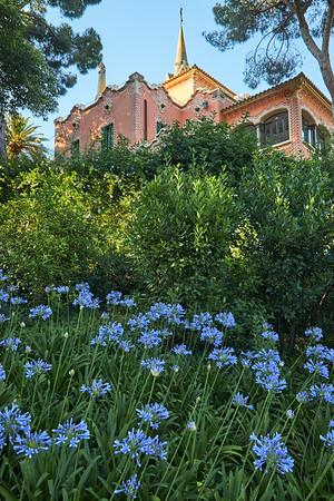 House of Gaudi in Antoni Gaudi's Park Güell, Barcelona