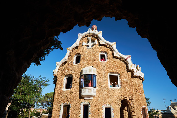 Casa del Guarda, Park Guell bu Gaudi, Barcelona