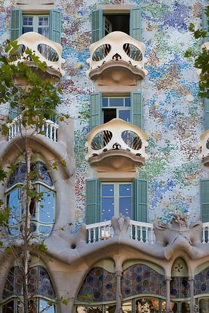 Antoni Gaudi's Casa Batlló, Barcelona, Spain