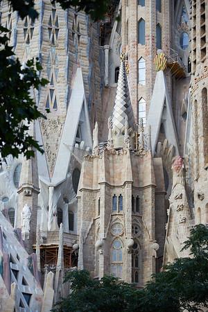 The extravagant exterior detail of Antoni Gaudi's Sagrada Familia