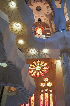 The dazzling interior of Gaudi's Sagrada Familia cathedral