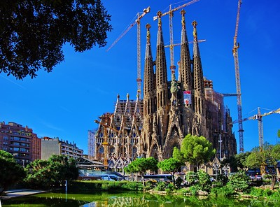 Sagrada Familia from Gaudi Park