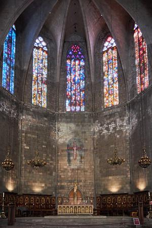 The alter in the Church of Santa Maria del Pi, Barcelona