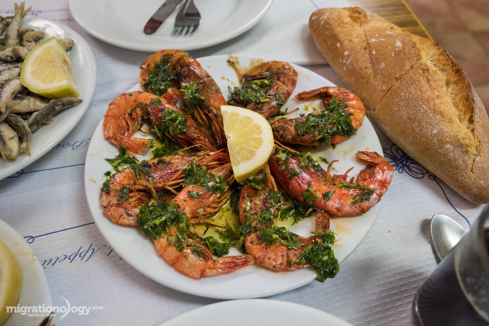 Grilled shrimp (gamberi)