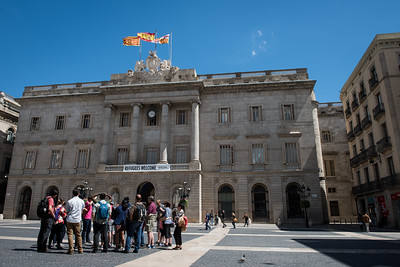 Refugees Welcome, City Hall, Barcelona