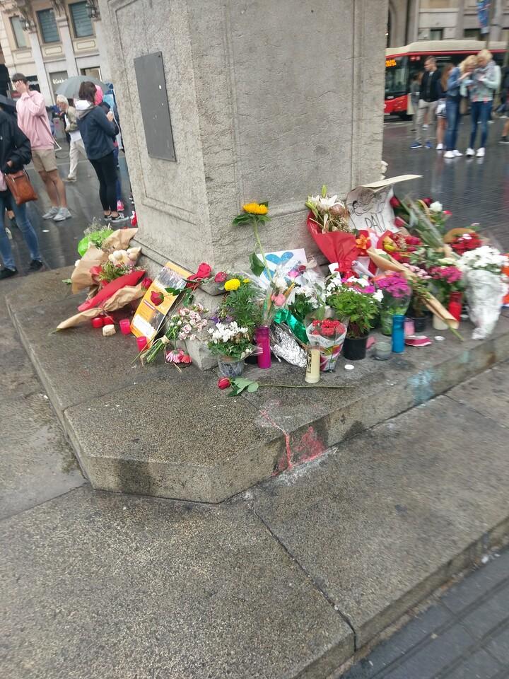 Makeshift memorial to August 17 van attack