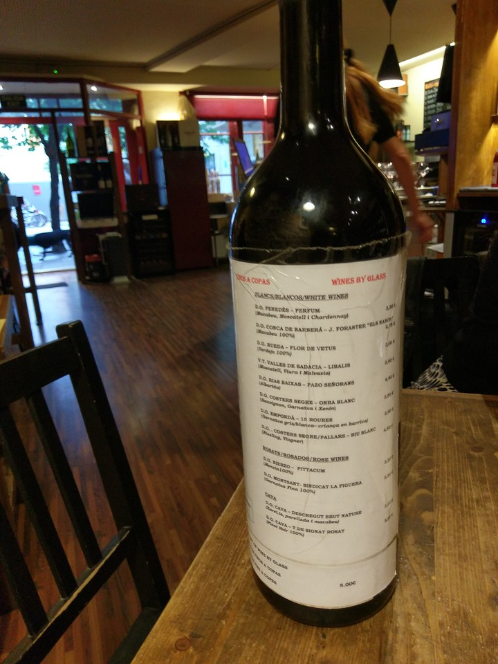 How wine lists should be presented @ Zona d'Ombra
