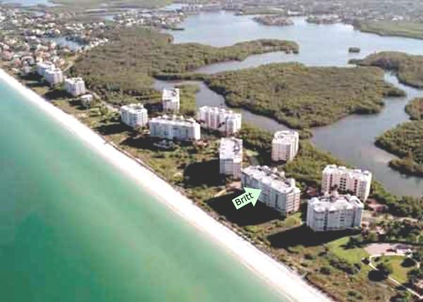 Aerial View of Barefoot Beach Club Buildings