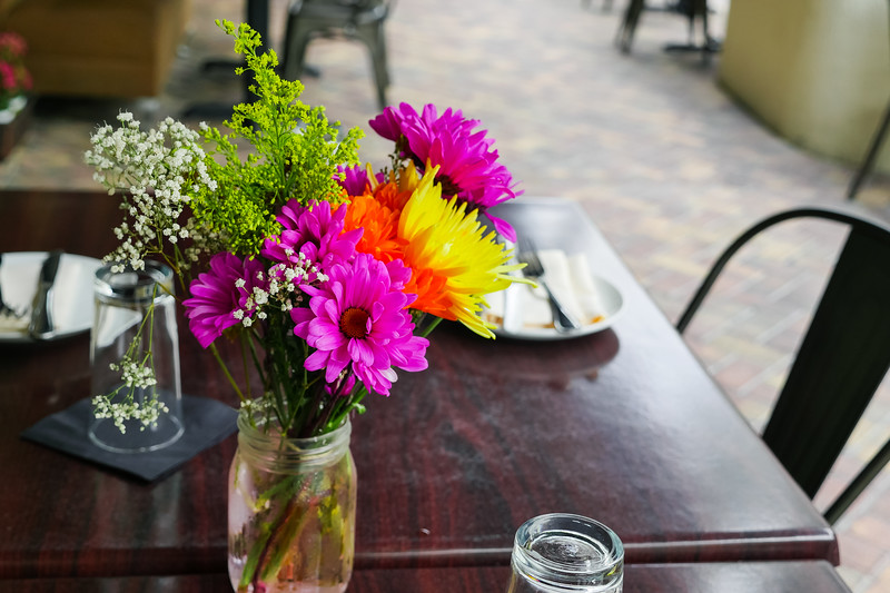Barley - An American Brasserie, flowers on the table
