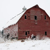 Frosty Red Barn - Close
