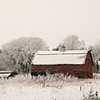 Frozen Red Barn - Square