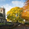 Barnby Dun church in Autumn