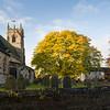 Barnby Dun church yard in Autumn