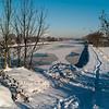 Frozen canal!