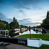 Bramwith lock at dusk- moon rising!