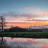 Barnby Dun can at sunset