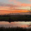 Sunset over Barnby Dun canal    iPhone XS