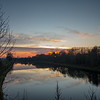 Barnby Dun can sunset