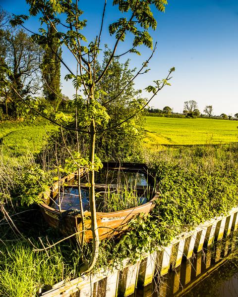 Viking Longboat stranded at Kirk Bramwith!