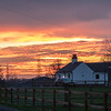 Sunset over the farm, Barnby Dun