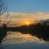 Setting sun on the canal Barnby Dun    iPhone XS