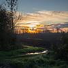 Sunset over Barnby Dun