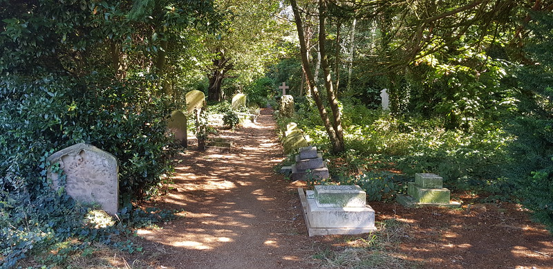 These paths have only recently been cleared so the public can see more of this forgotten cemetery.